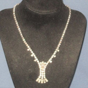 vintage fancy rhinestone necklace